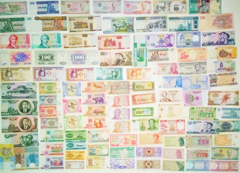 200 world banknotes. Majority UNC