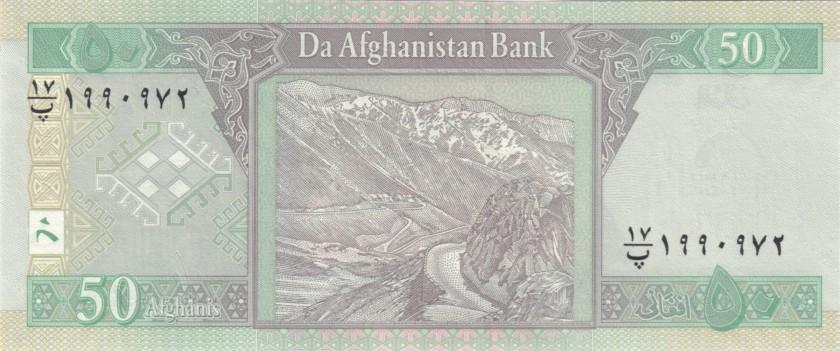 Afghanistan P69f 50 Afghanis 2016 UNC