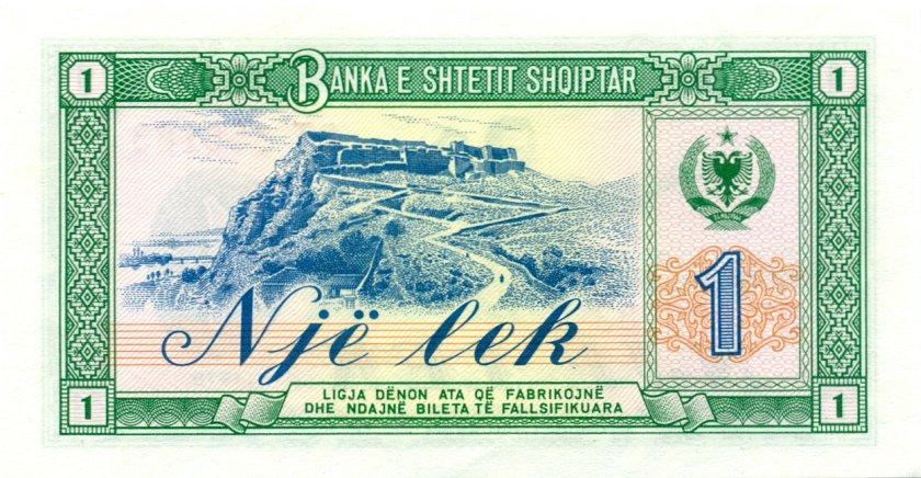 Albania P40 787787 RADAR 1 Lek 1976 UNC