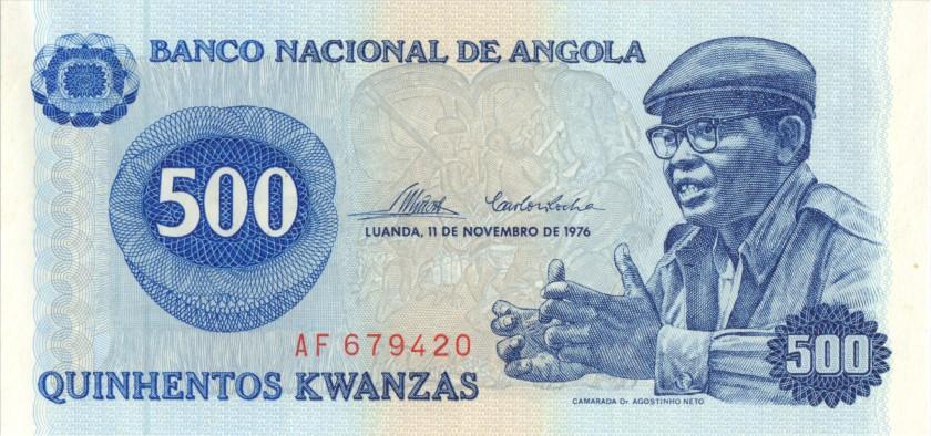 Angola P112 500 Kwanzas 1976 UNC