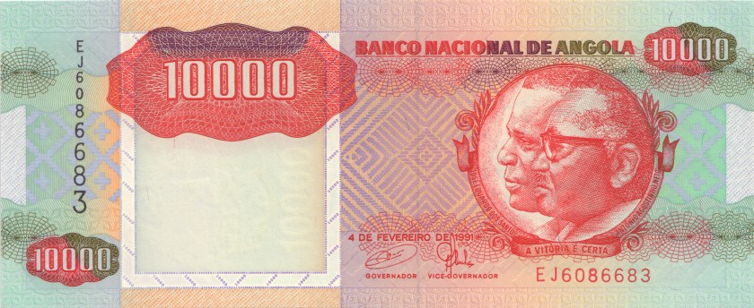Angola P131b 10.000 Kwanzas 1991 UNC