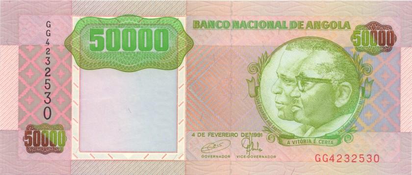 Angola P132 50.000 Kwanzas 1991 UNC