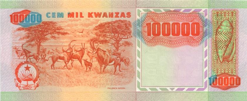 Angola P133x 100.000 Kwanzas 1991 UNC