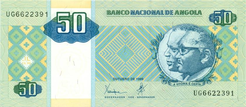 Angola P146a 50 Kwanzas 1999 UNC