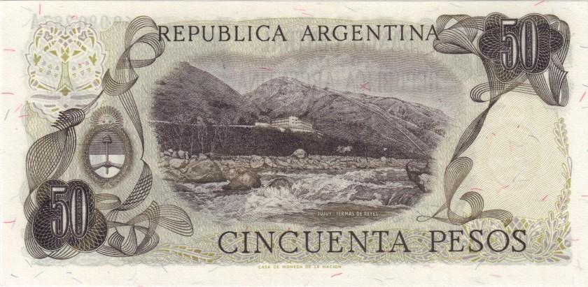 Argentina P296(2) 50 Pesos Serie A 1974-1975 UNC