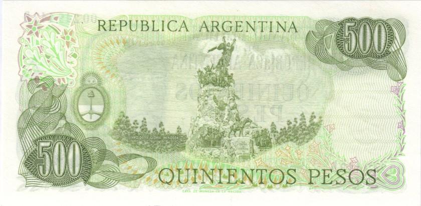 Argentina P303a(2) 500 Pesos Serie B 1977-1982 UNC