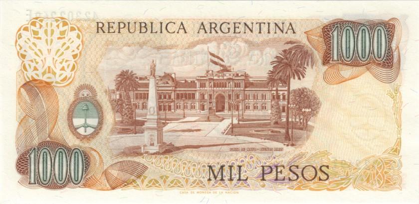 Argentina P304b(2) 1.000 Pesos Serie E 1976-1983 UNC