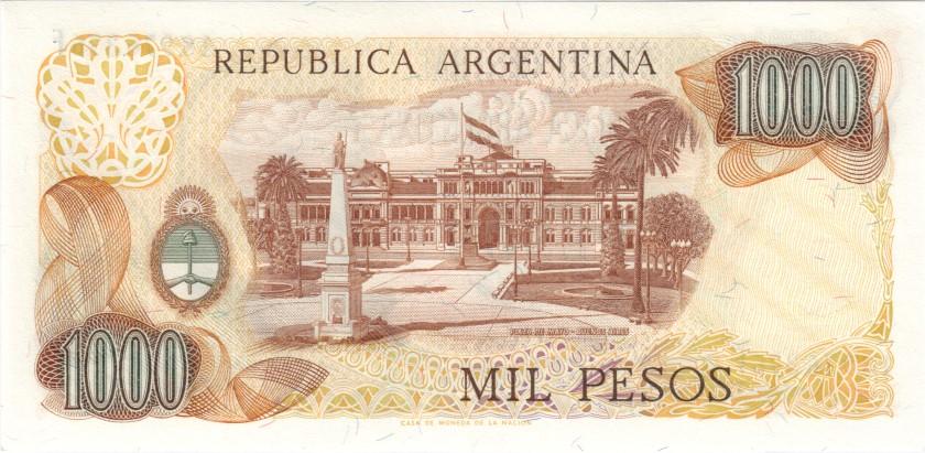 Argentina P304b(2) 1.000 Pesos Serie F 1976-1983 UNC