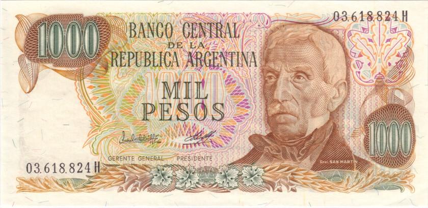 Argentina P304c(1) 1.000 Pesos Serie H 1976-1983 UNC