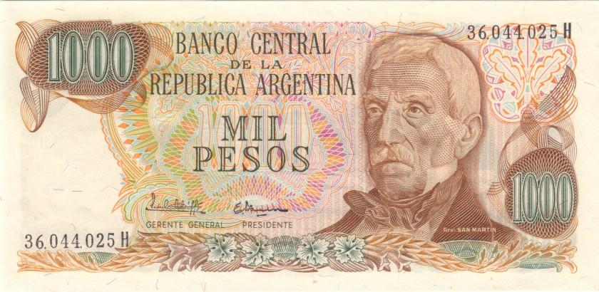 Argentina P304c(3) 1.000 Pesos Serie H 1976-1983 UNC