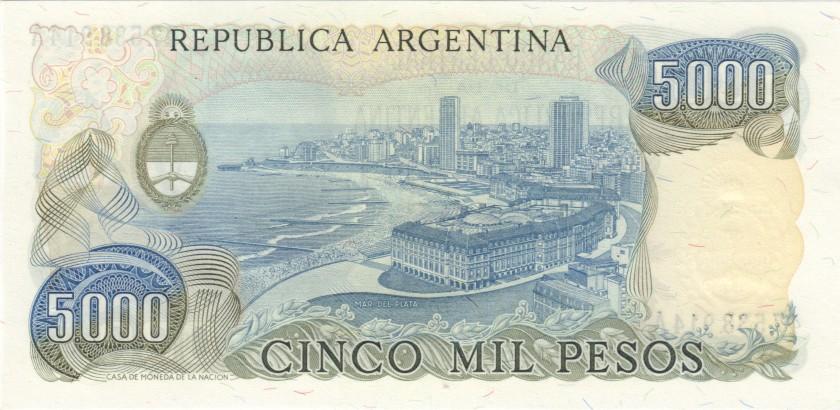 Argentina P305a(1) 5.000 Pesos Serie A 1977-1983 UNC