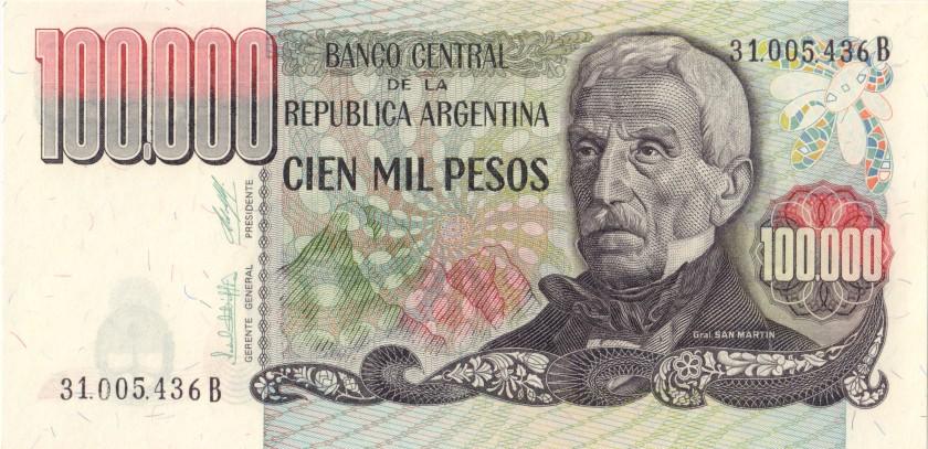 Argentina P308b 100.000 Pesos 1979 - 1983 UNC