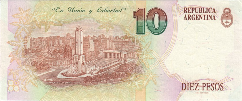 Argentina P342b(1)r REPLACEMENT 10 Pesos Convertibles Serie A 1992 - 1997