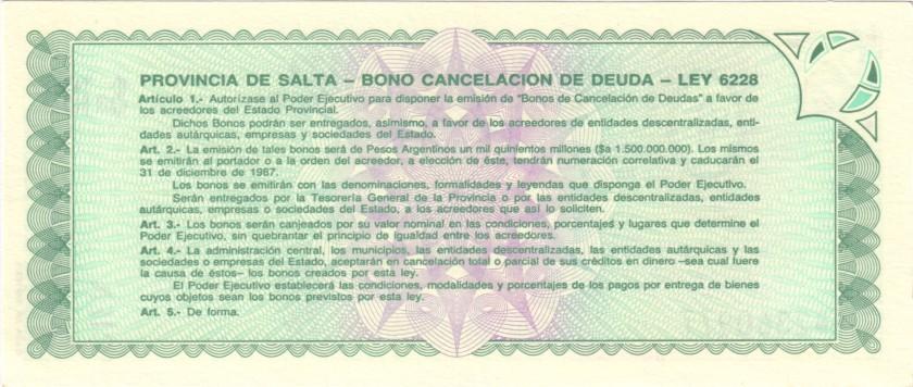 Argentina PS2602 100 Pesos Argentinos 1987 UNC
