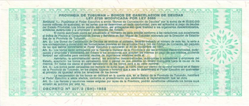 Argentina PS2711b(2) 1 Austral 1991 UNC