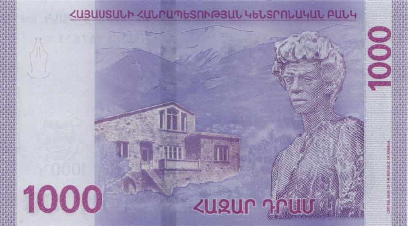 Armenia P-NEW 1.000 Dram 2018 UNC
