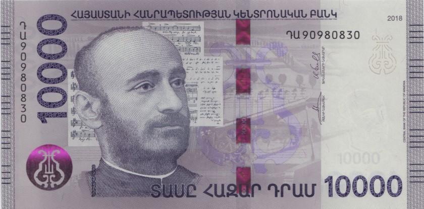 Armenia P-NEW REPLACEMENT 10.000 Dram 2018