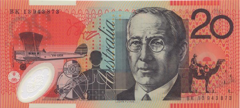 Australia P59h 20 Dollars 2013 UNC