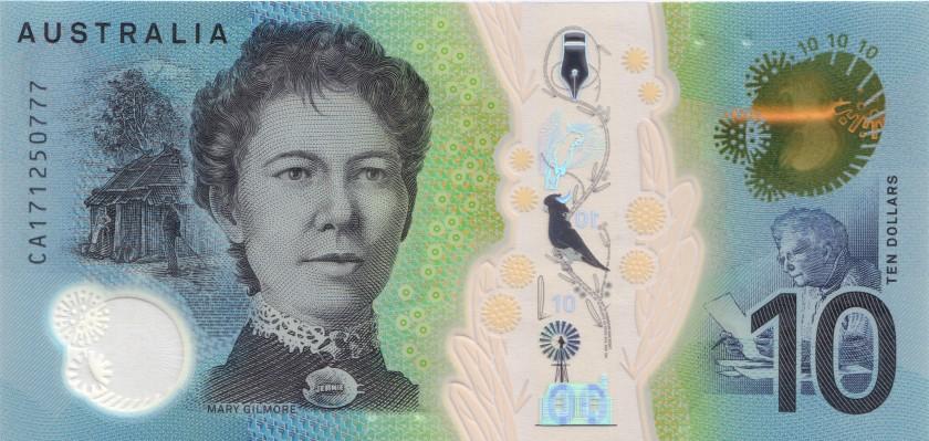 Australia P63 10 Dollars 2017 UNC