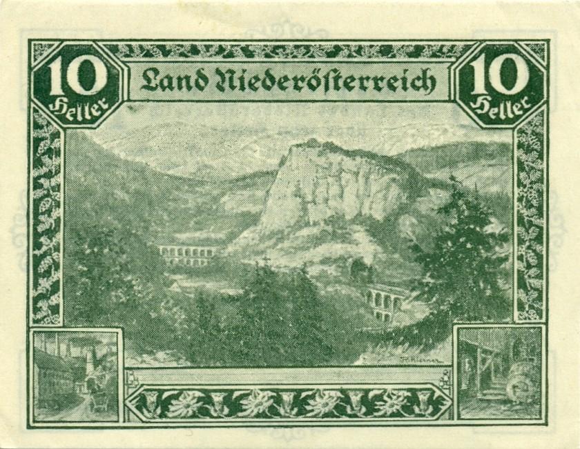 Austria P-S109 10 Heller 1920