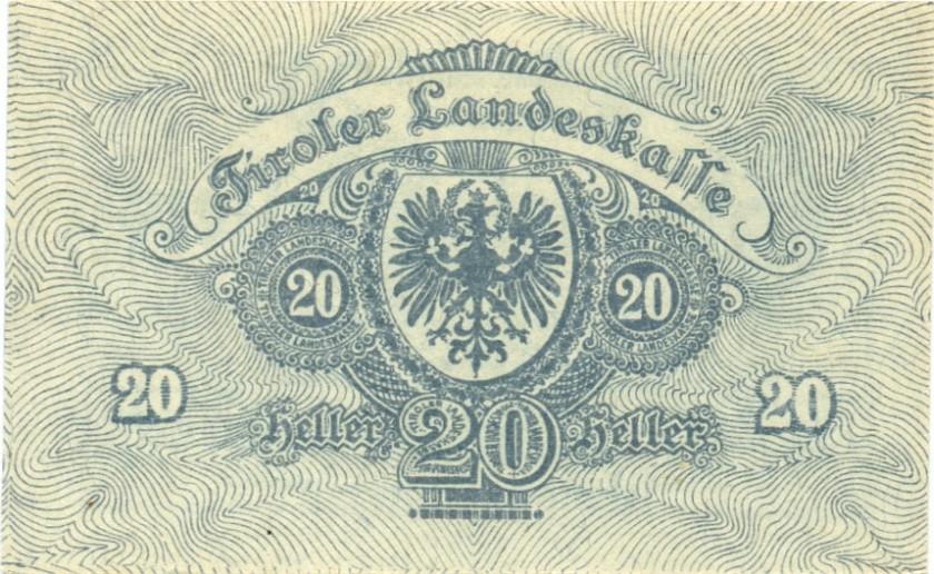Austria P-S140 20 Heller 1919 AU