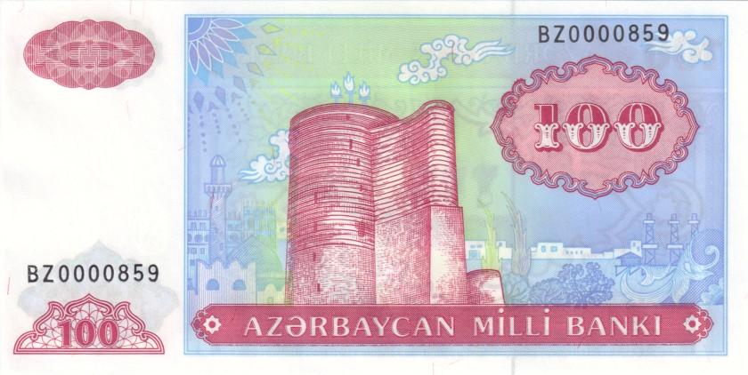 Azerbaijan P18br BZ0000859 REPLACEMENT 100 Manat 1993 UNC
