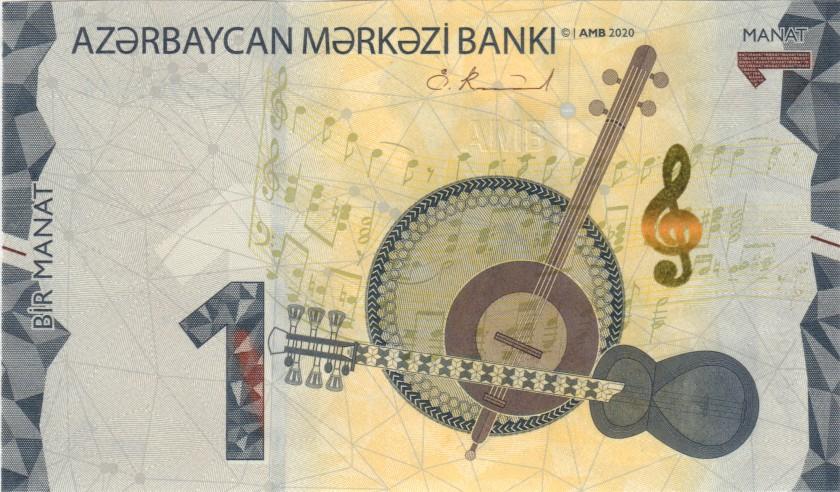 Azerbaijan P-NEW 1 Manat 2020 UNC