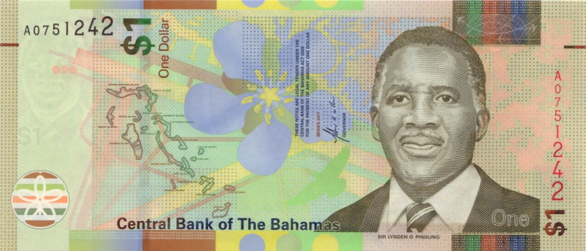 Bahamas P-NEW 1 Dollar 2017 UNC