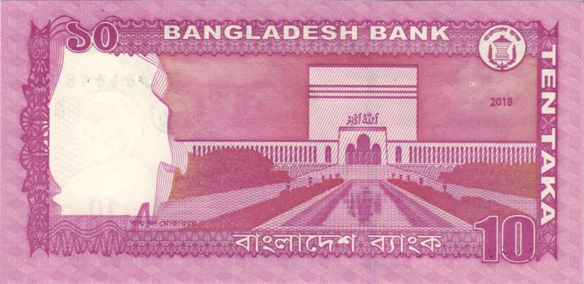Bangladesh P54i 10 Taka 2018 UNC