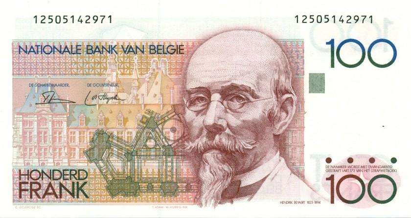 Belgium P140a(2) 100 Francs 1978-1981 UNC
