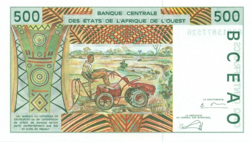 West African States Benin P210Bn 500 Francs 2002 UNC