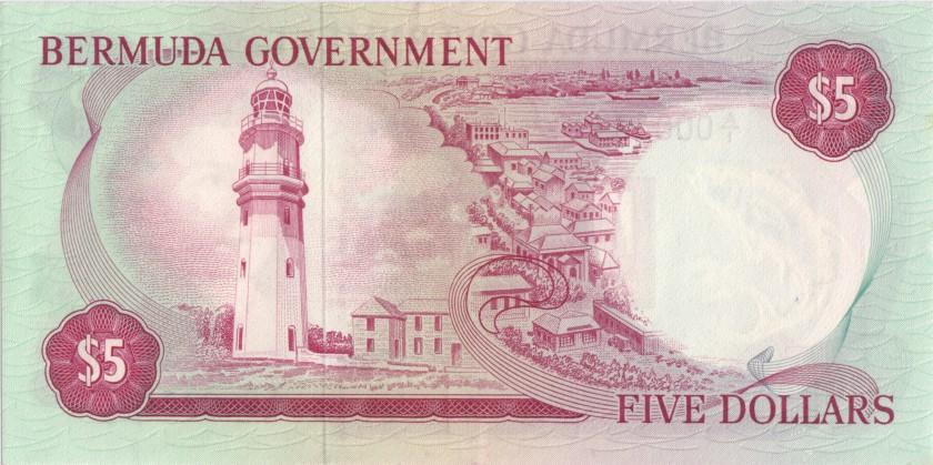 Bermuda P24 5 Dollars 1970 UNC