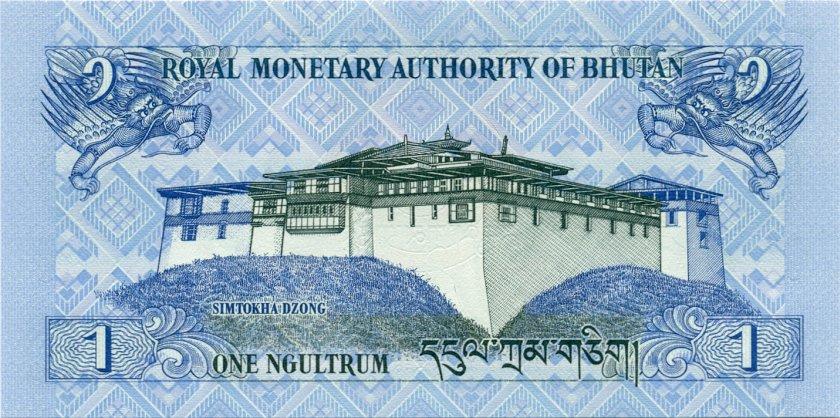 Bhutan P27a 1 Ngultrum 2006 UNC