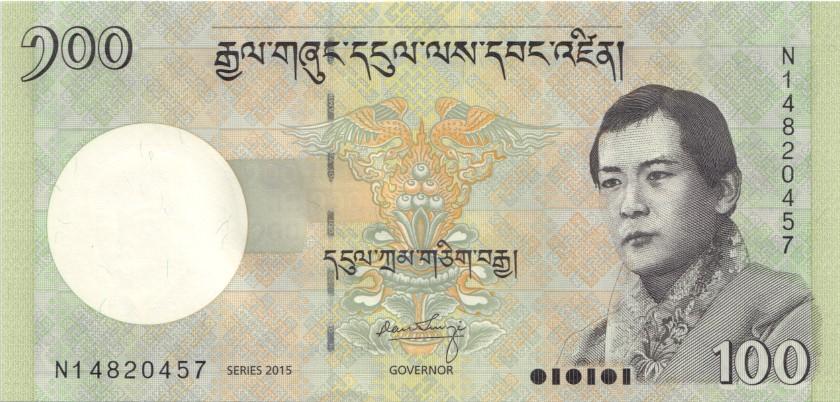 Bhutan P32c 100 Ngultrum 2015 UNC
