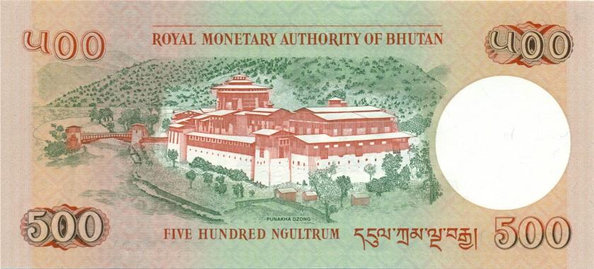 Bhutan P33b 500 Ngultrum 2011 UNC