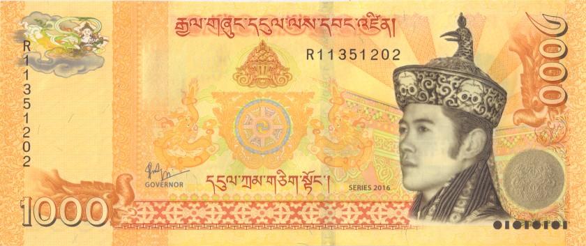 Bhutan P34b 1.000 Ngultrum 2016 UNC