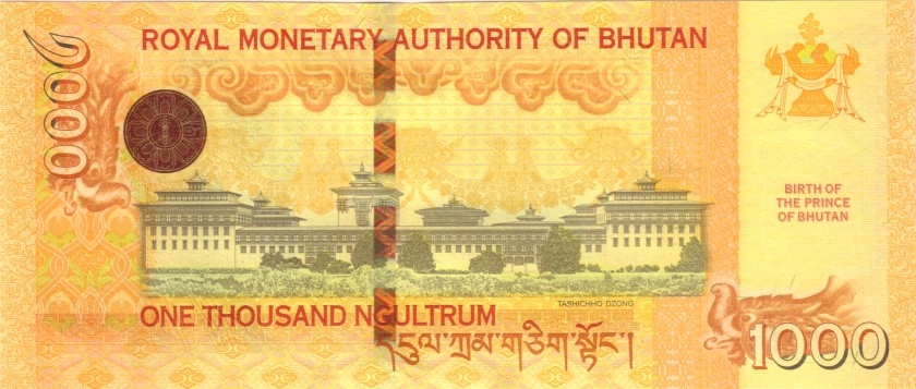 Bhutan P36 1.000 Ngultrum 2016 UNC