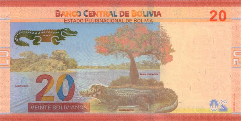 Bolivia P249 20 Bolivianos 2018 UNC