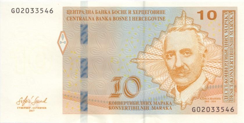 Bosnia and Herzegovina P81 10 Konvertibilnih Maraka (Convertible Marka) 2017 UNC