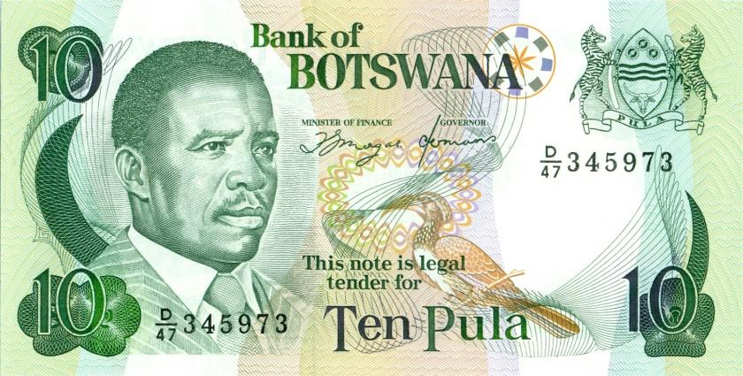 Botswana P12 10 Pula 1992 UNC
