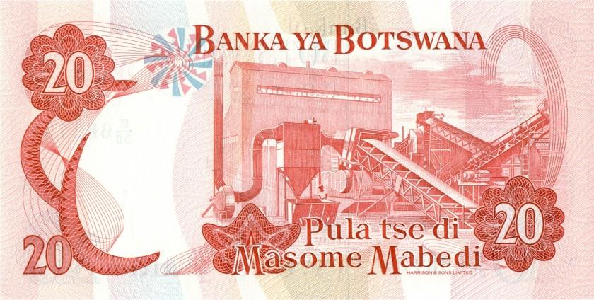 Botswana P13 20 Pula 1992 UNC