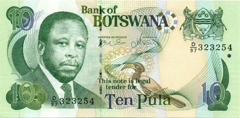 Botswana P24b 10 Pula 2007 UNC