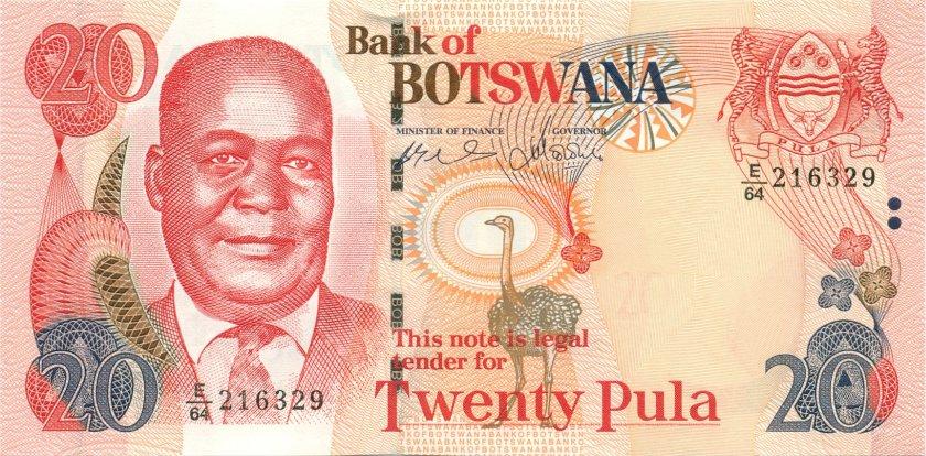 Botswana P27a 20 Pula 2004 UNC
