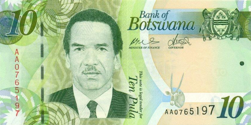 Botswana P30a 10 Pula 2009 UNC