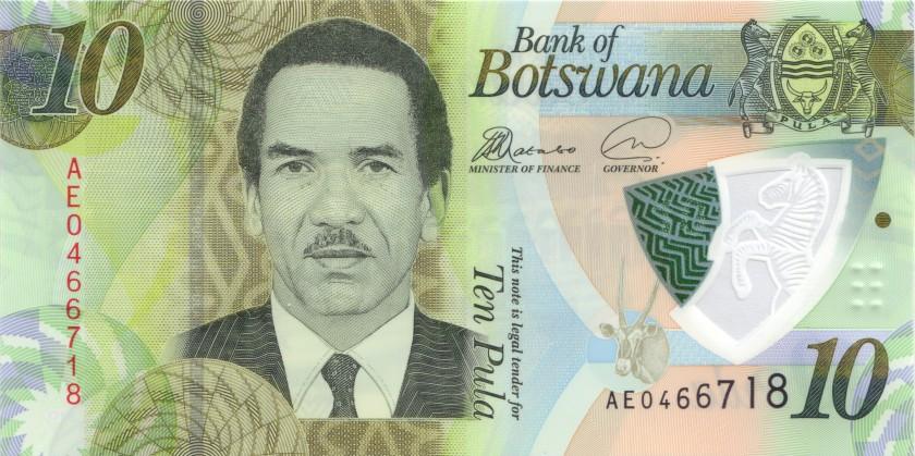Botswana P-NEW 10 Pula 2018 UNC