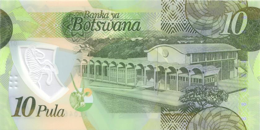 Botswana P35 10 Pula 2018 UNC