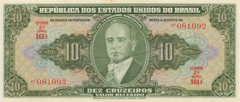 Brazil P143 10 Cruzeiros 1950 UNC
