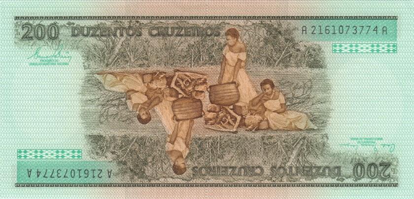 Brazil P199a 200 Cruzeiros 1981-1984 UNC