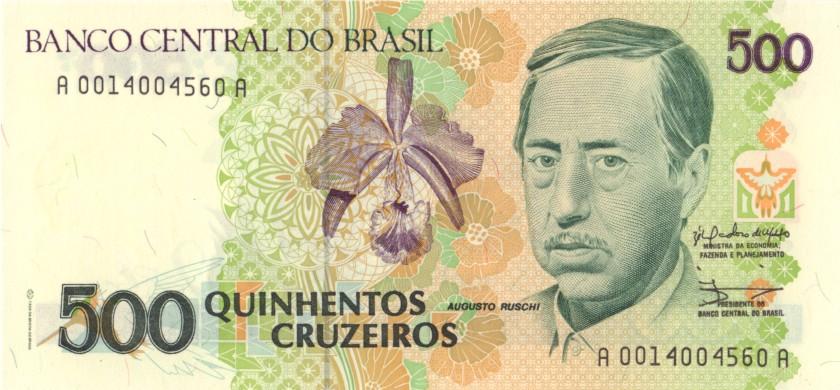 Brazil P230 500 Cruzeiros 1990 UNC