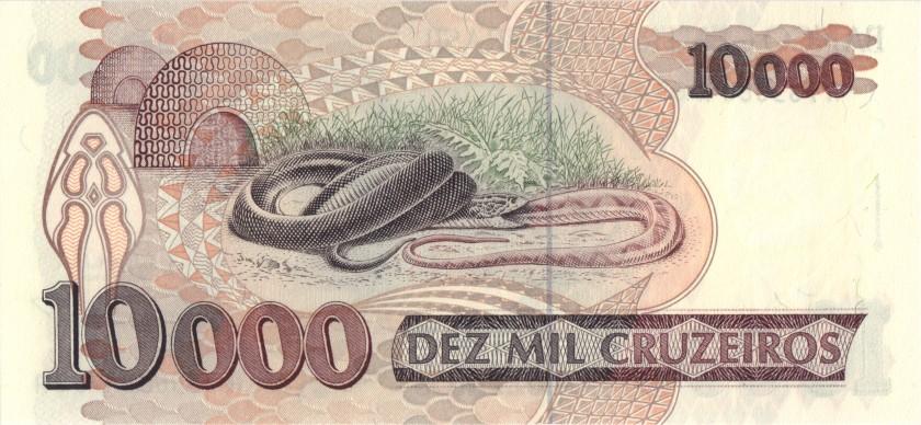 Brazil P233c 10.000 Cruzeiros 1991-1993 UNC